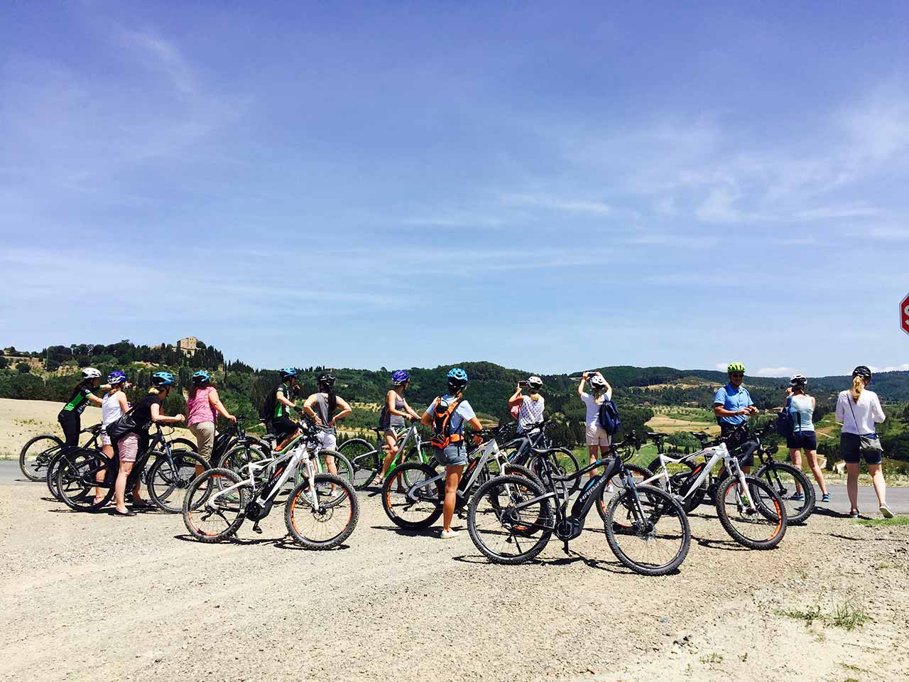 Group - Biking Tuscany Tour