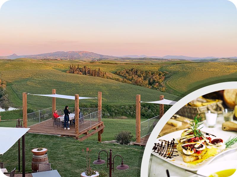 "Tuscany cycling tour ""Organic farm food and wine experience"""