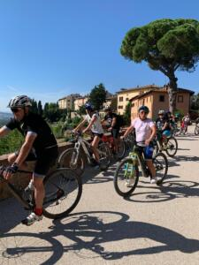 Tuscany bike tour - Volterra wine cellar experience